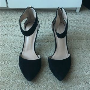 BCBGeneration Suede Heels with Ankle Strap
